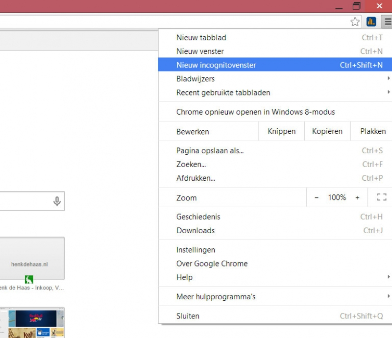 Incognito Google Chrome